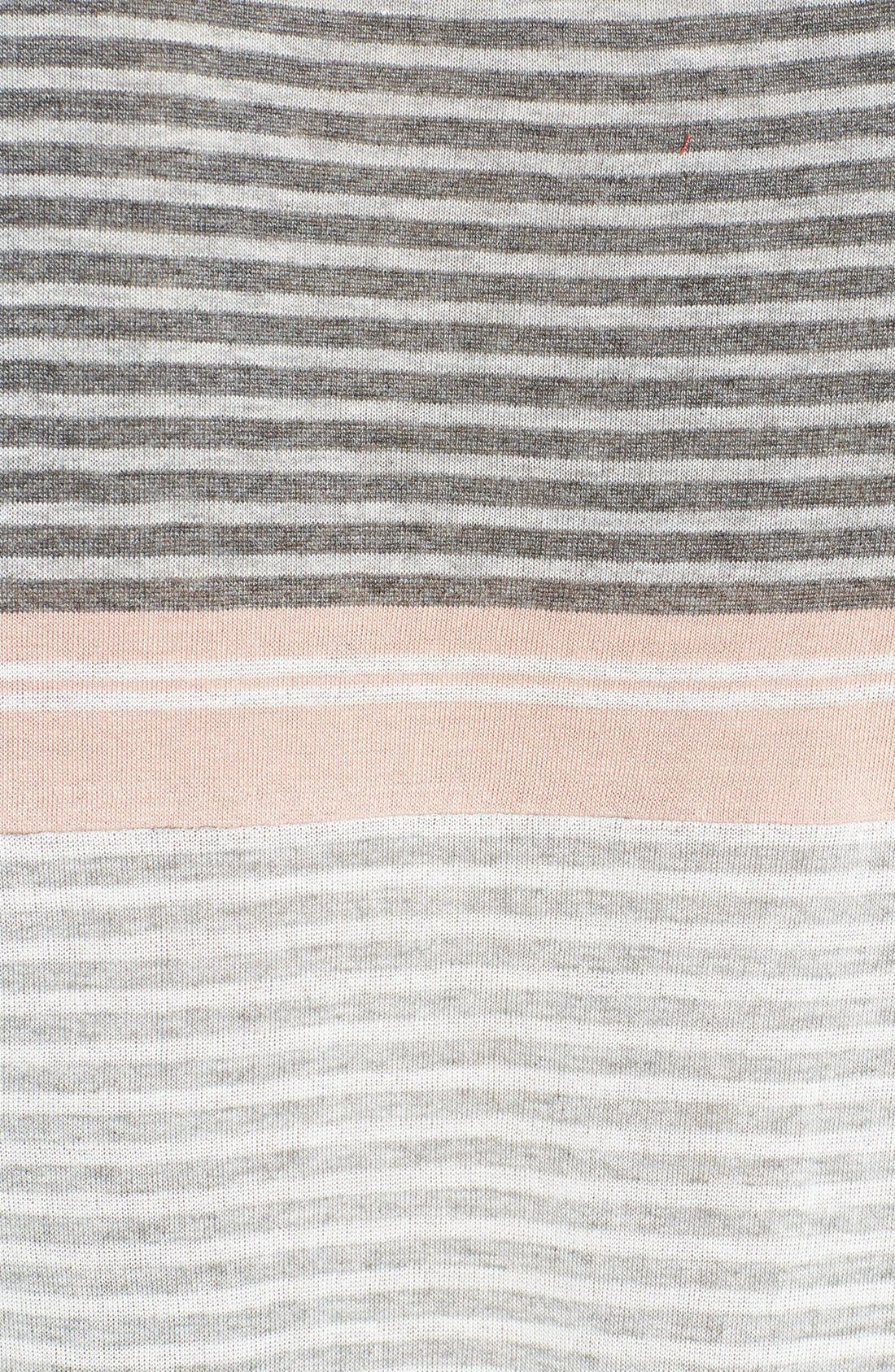 Alternate Image 3  - Soft Joie Mix Stripe Tee