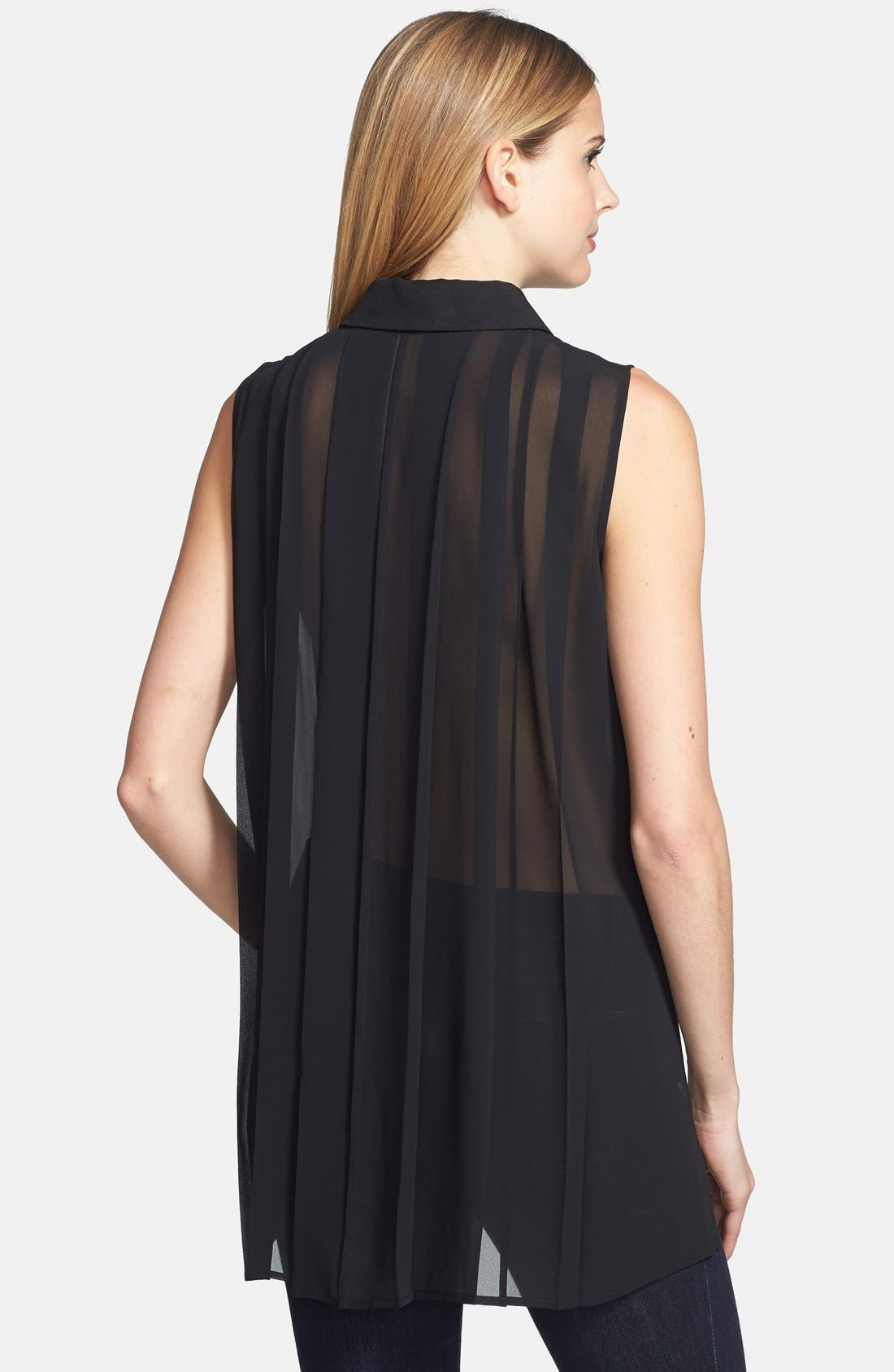 Alternate Image 2  - Kenneth Cole New York 'Candida' Pleated Sheer Back Blouse