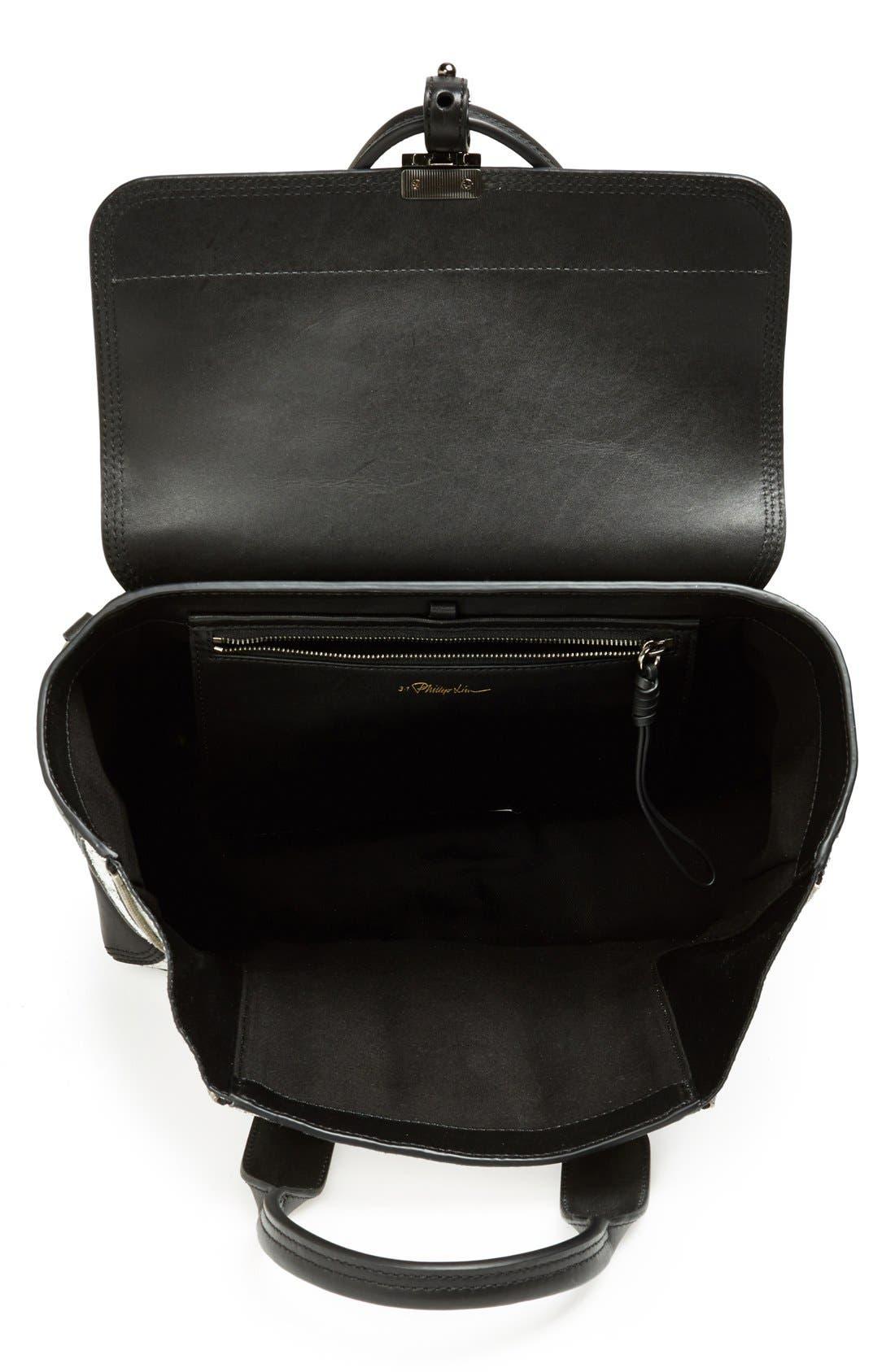 Alternate Image 3  - 3.1 Phillip Lim 'Medium Pashli' Cracked Leather Panel Satchel