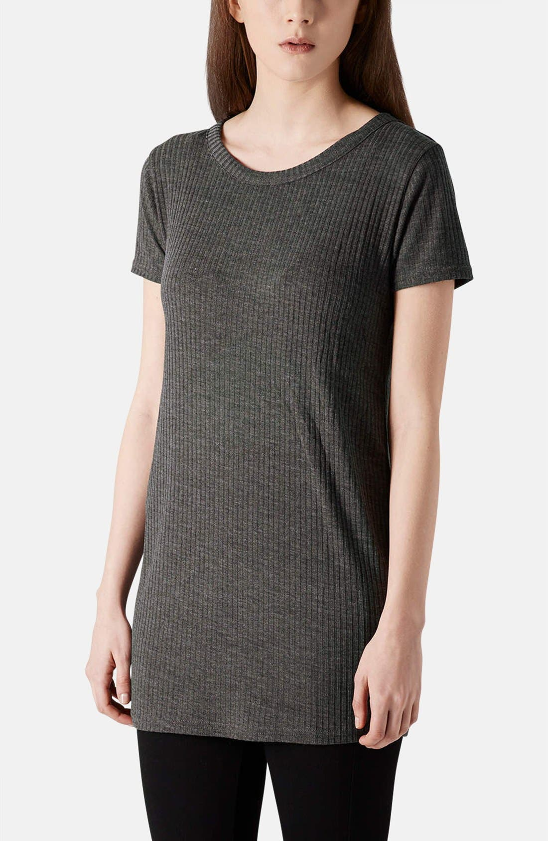 Alternate Image 1 Selected - Topshop Ribbed Jersey Tunic Tee