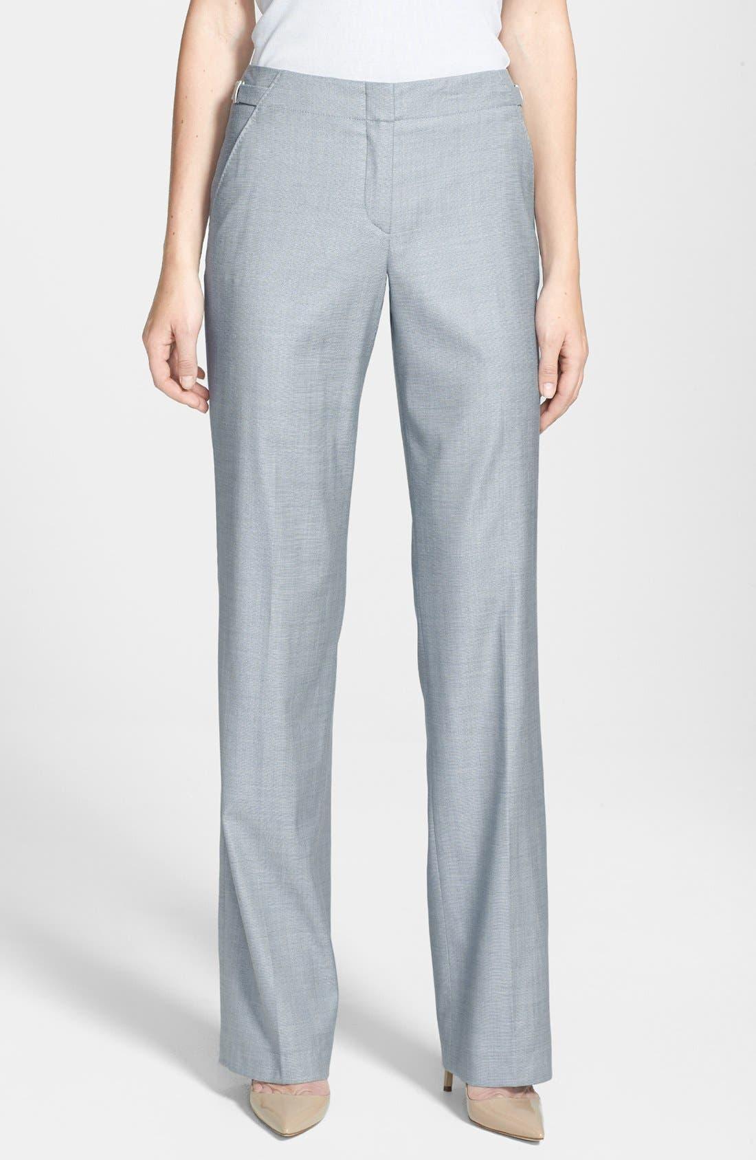 Alternate Image 1 Selected - BOSS HUGO BOSS 'Tillina' Stretch Wool Blend Trousers