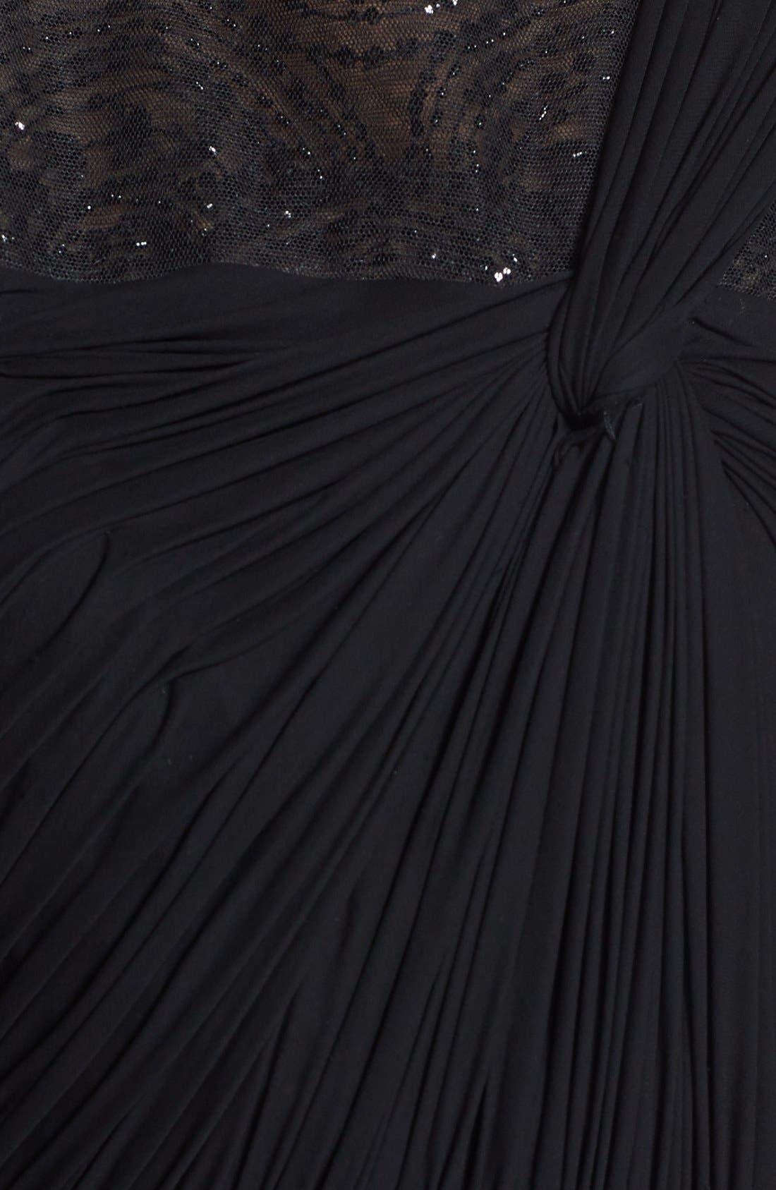 Alternate Image 3  - Vera Wang Embellished Yoke Ruched Jersey Gown