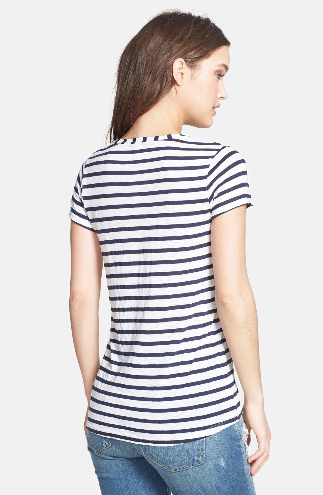 Alternate Image 2  - Splendid 'Venice' Stripe High/Low Tee