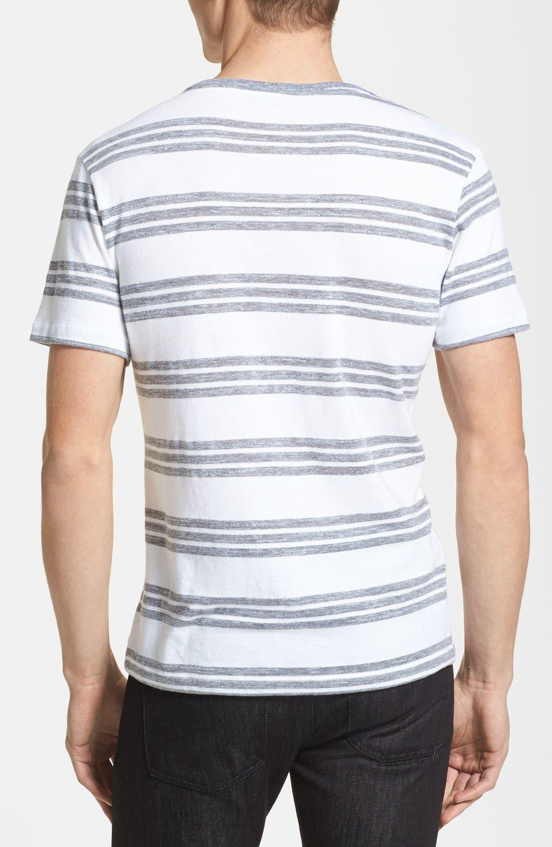 Alternate Image 2  - Lacoste Jaspe Stripe Jersey V-Neck T-Shirt