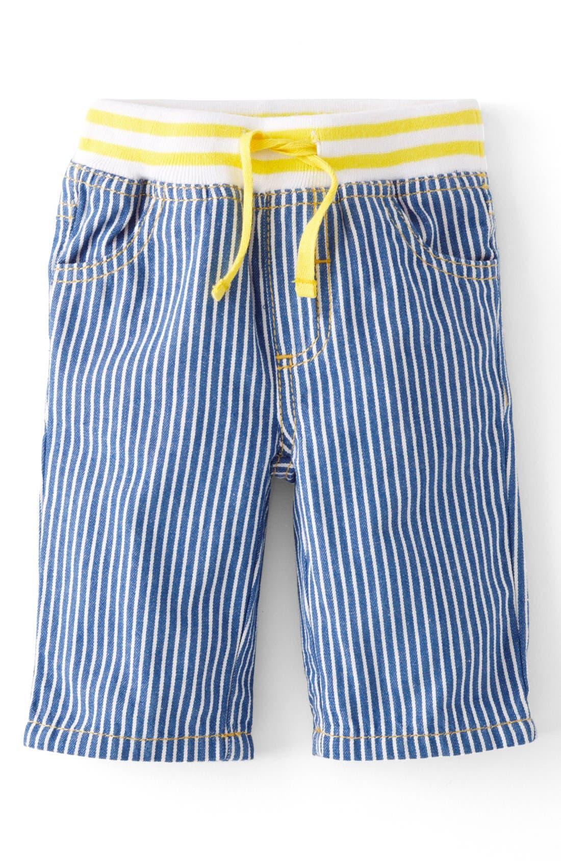 Alternate Image 1 Selected - Mini Boden Straight Leg Jeans (Baby Boys)