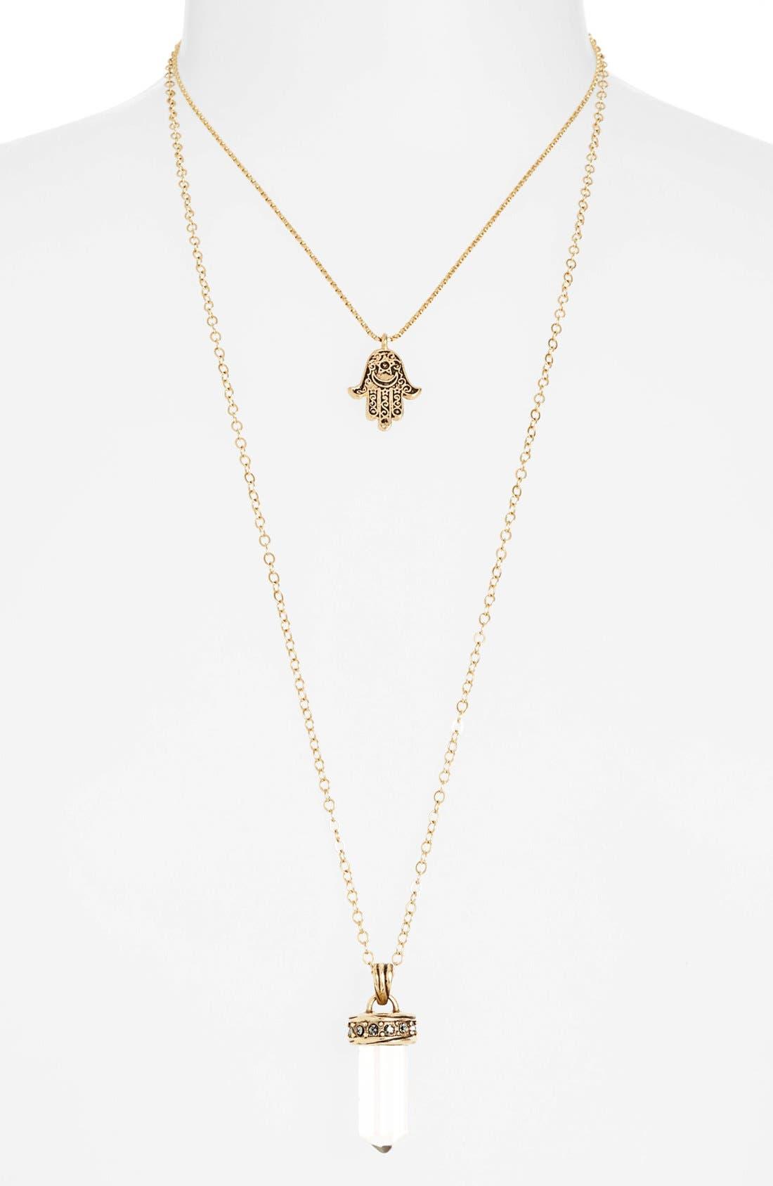 Alternate Image 2  - Nordstrom Multistrand Hamsa Pendant Necklace