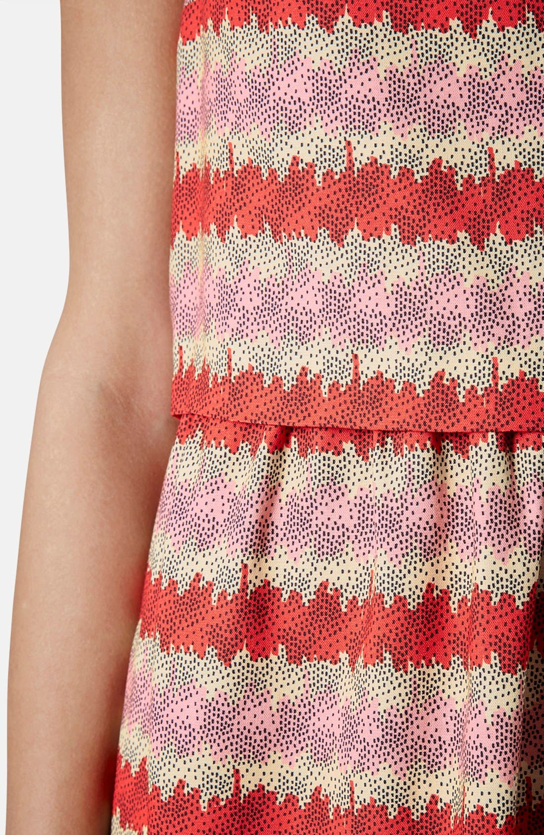 Alternate Image 4  - Topshop 'Kiwi Stripe' Print Crop Bodice Dress