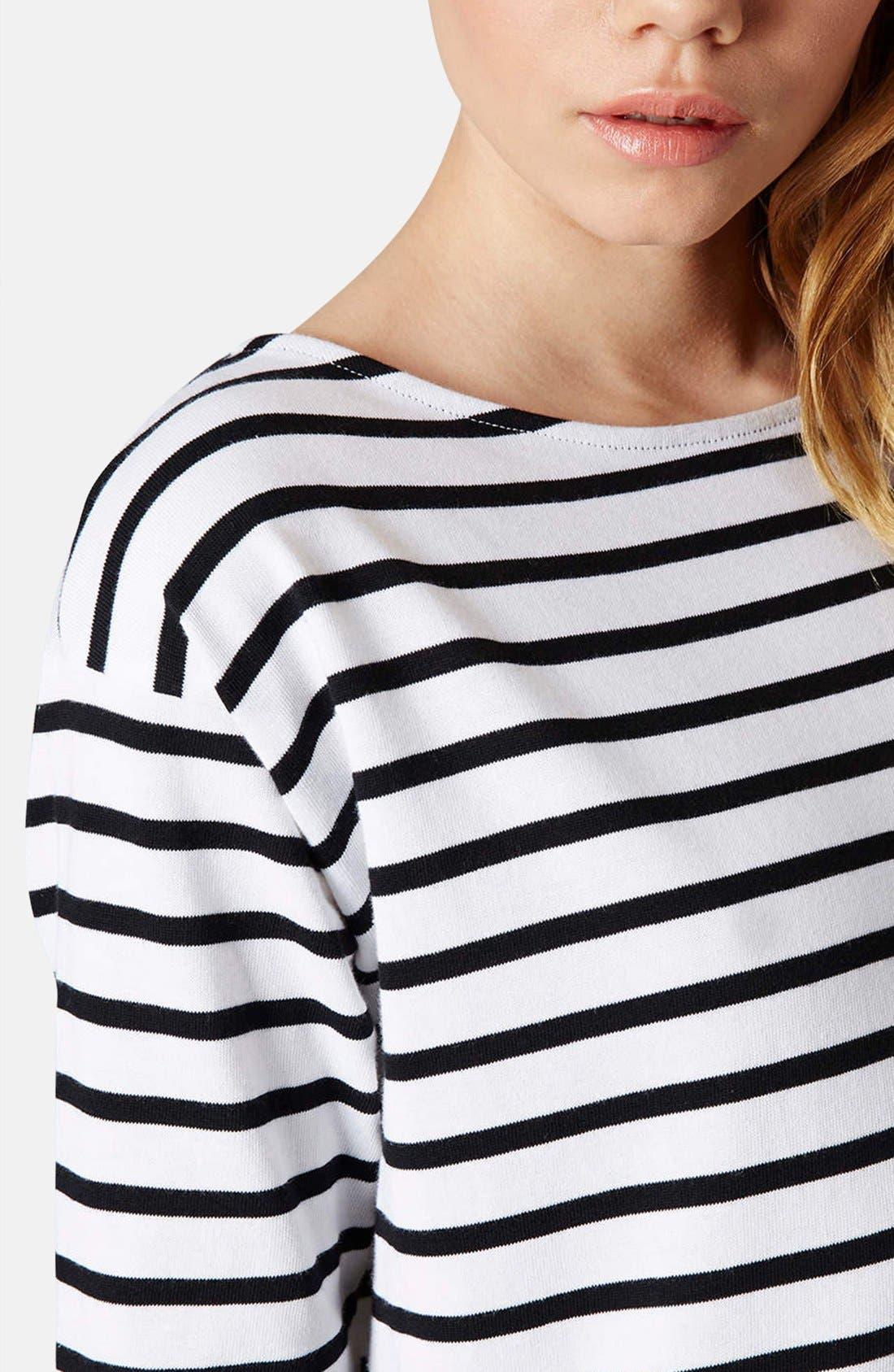 Alternate Image 4  - Topshop Stripe Cotton Tunic Dress (Petite)