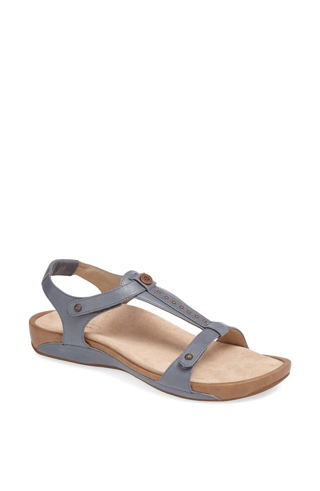 Alternate Image 1 Selected - Aetrex 'Alyssa' Leather Sandal