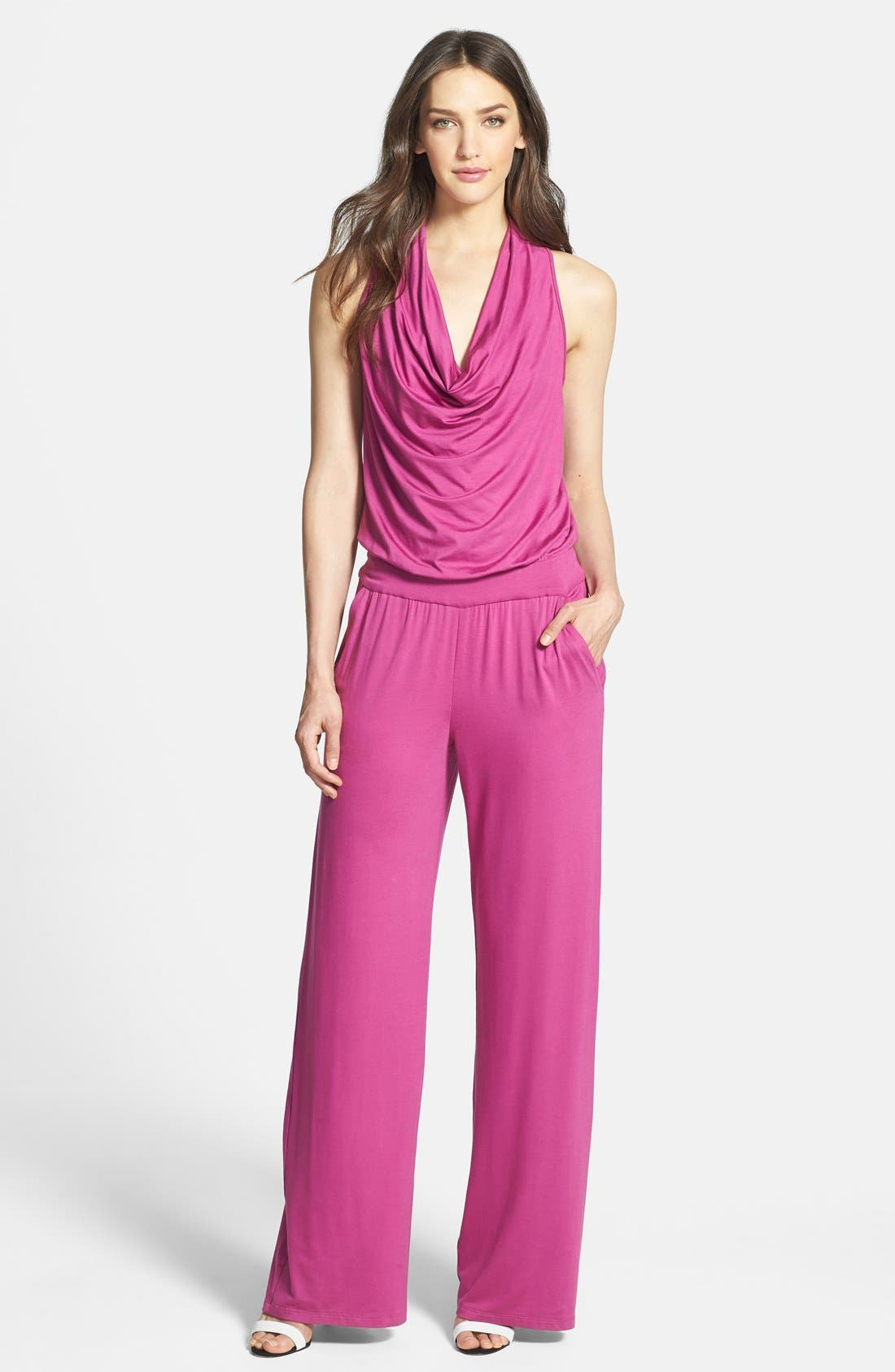 Alternate Image 1 Selected - Trina Turk 'Raissa' Jersey Jumpsuit