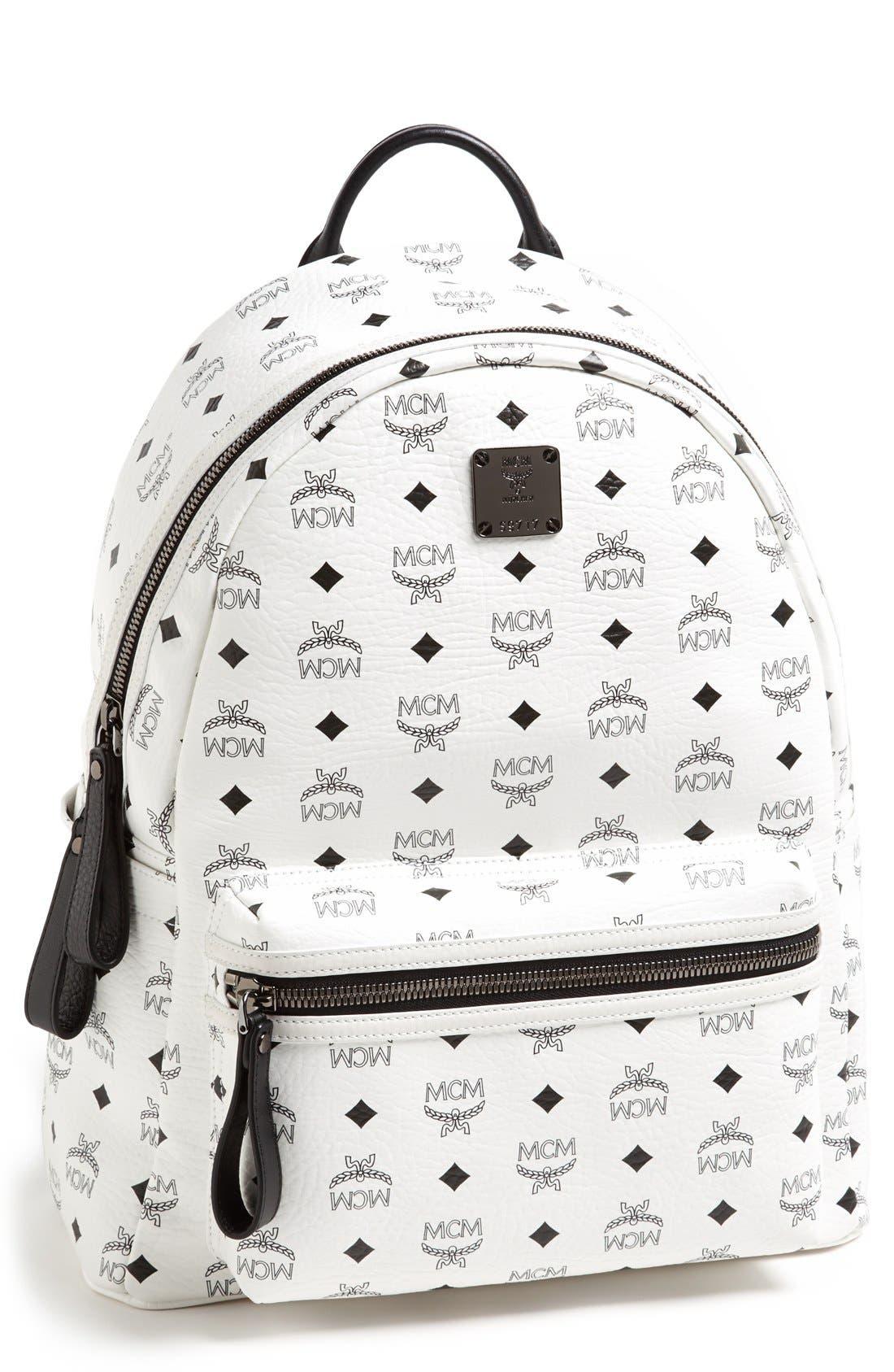 Alternate Image 1 Selected - MCM 'Medium Stark' Logo Print Backpack