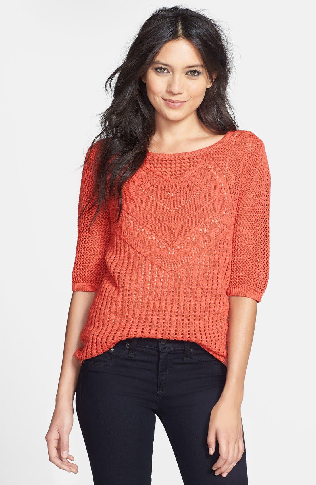 Main Image - Hinge® Mix Knit Sweater