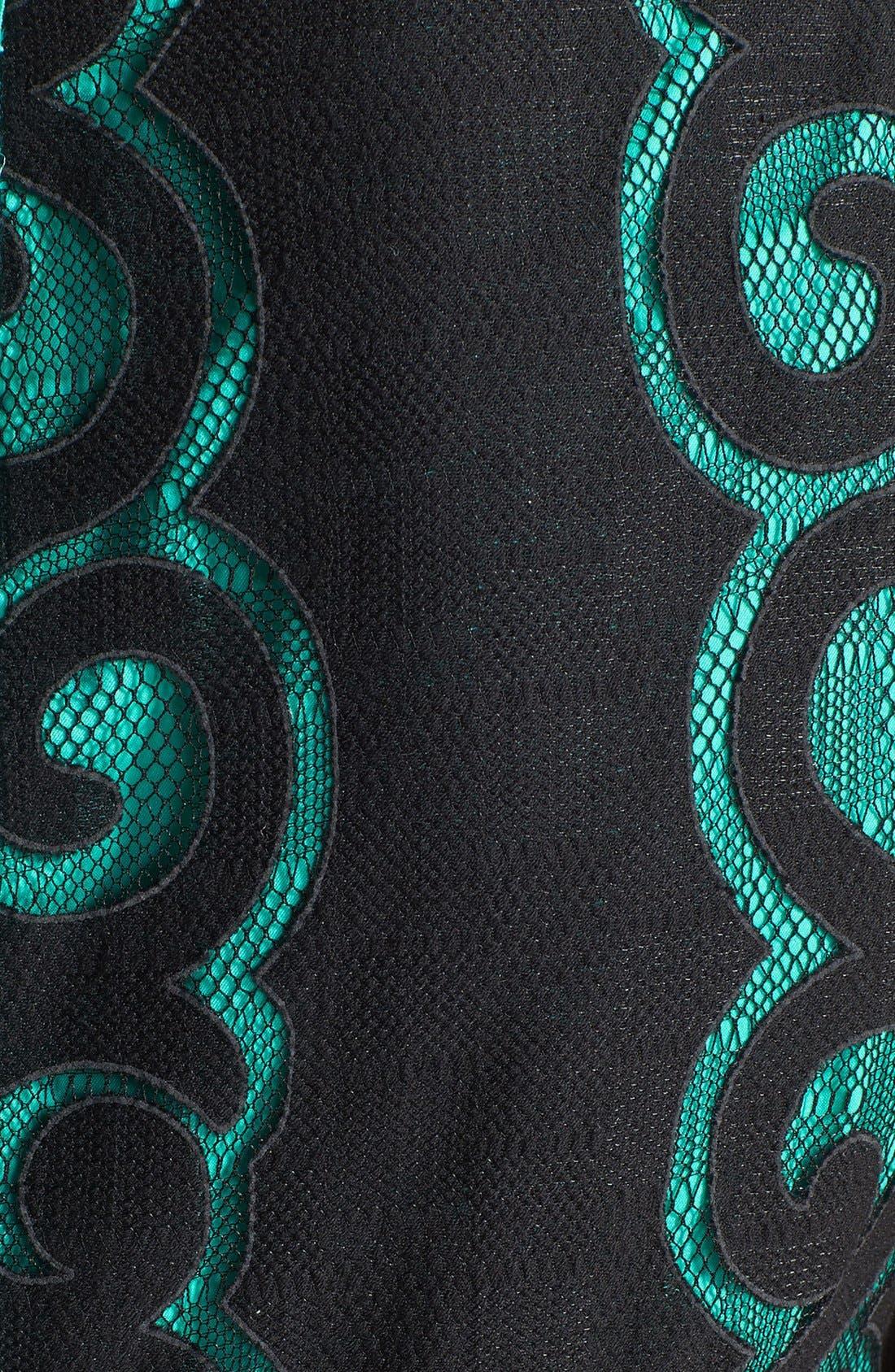 Alternate Image 4  - Ivy & Blu Burnout Lace Fit & Flare Dress