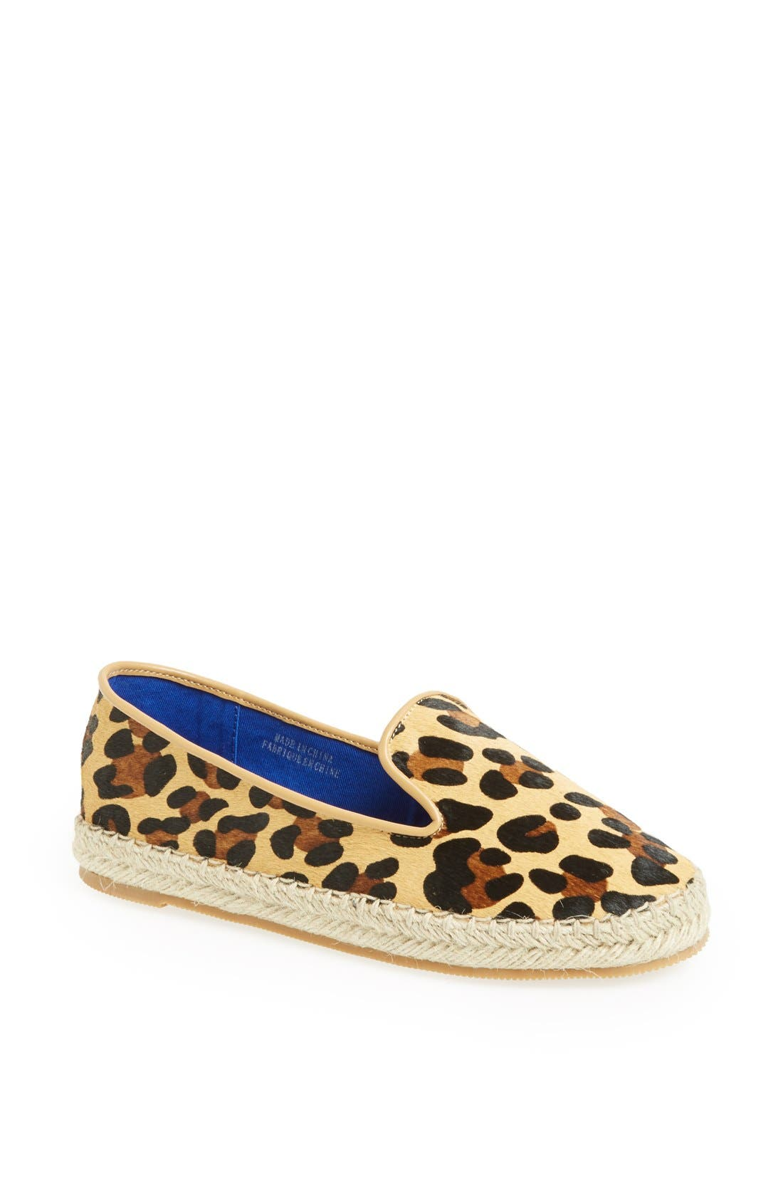 Main Image - Jeffrey Campbell 'Abides' Printed Calf Hair Espadrille Flat