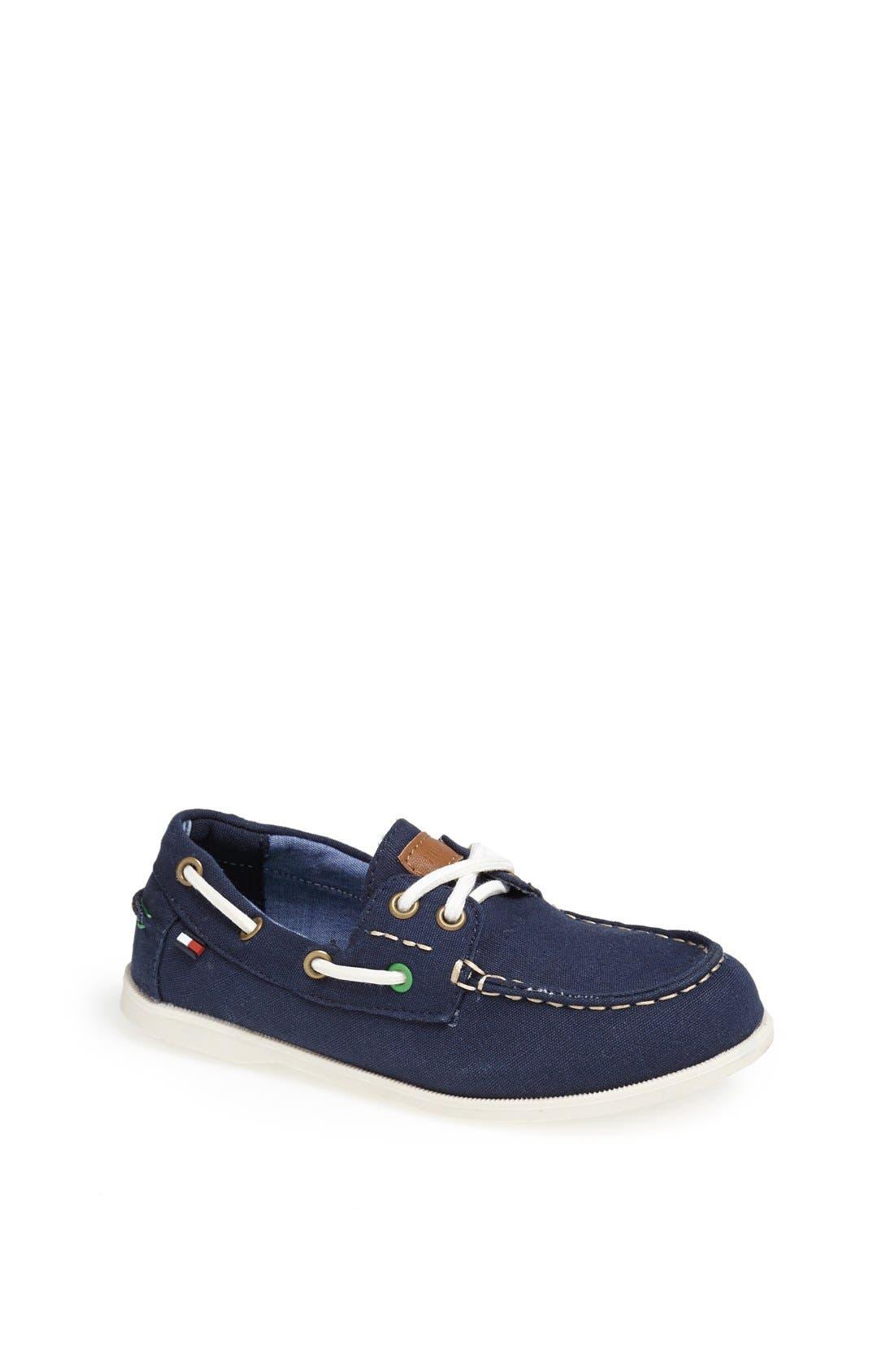 Alternate Image 1 Selected - Tommy Hilfiger 'Douglas' Boat Shoe (Toddler, Little Kid & Big Kid)