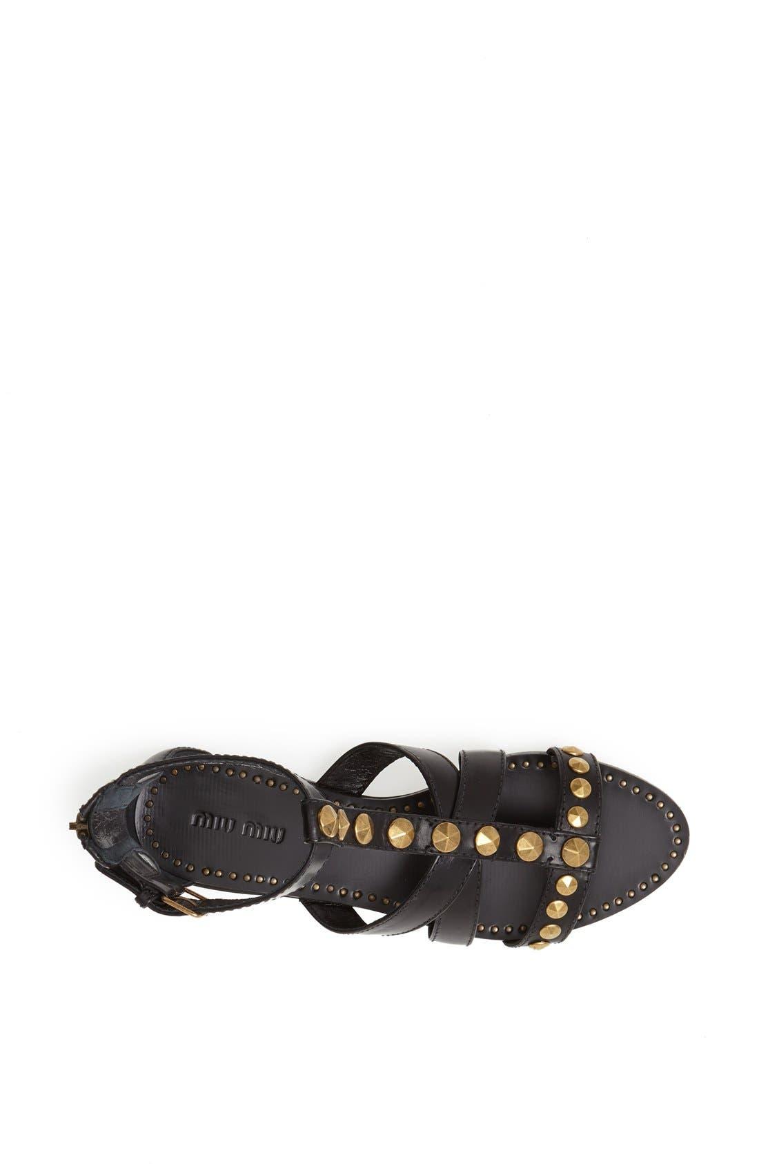 Alternate Image 3  - Miu Miu Studded Cage Sandal