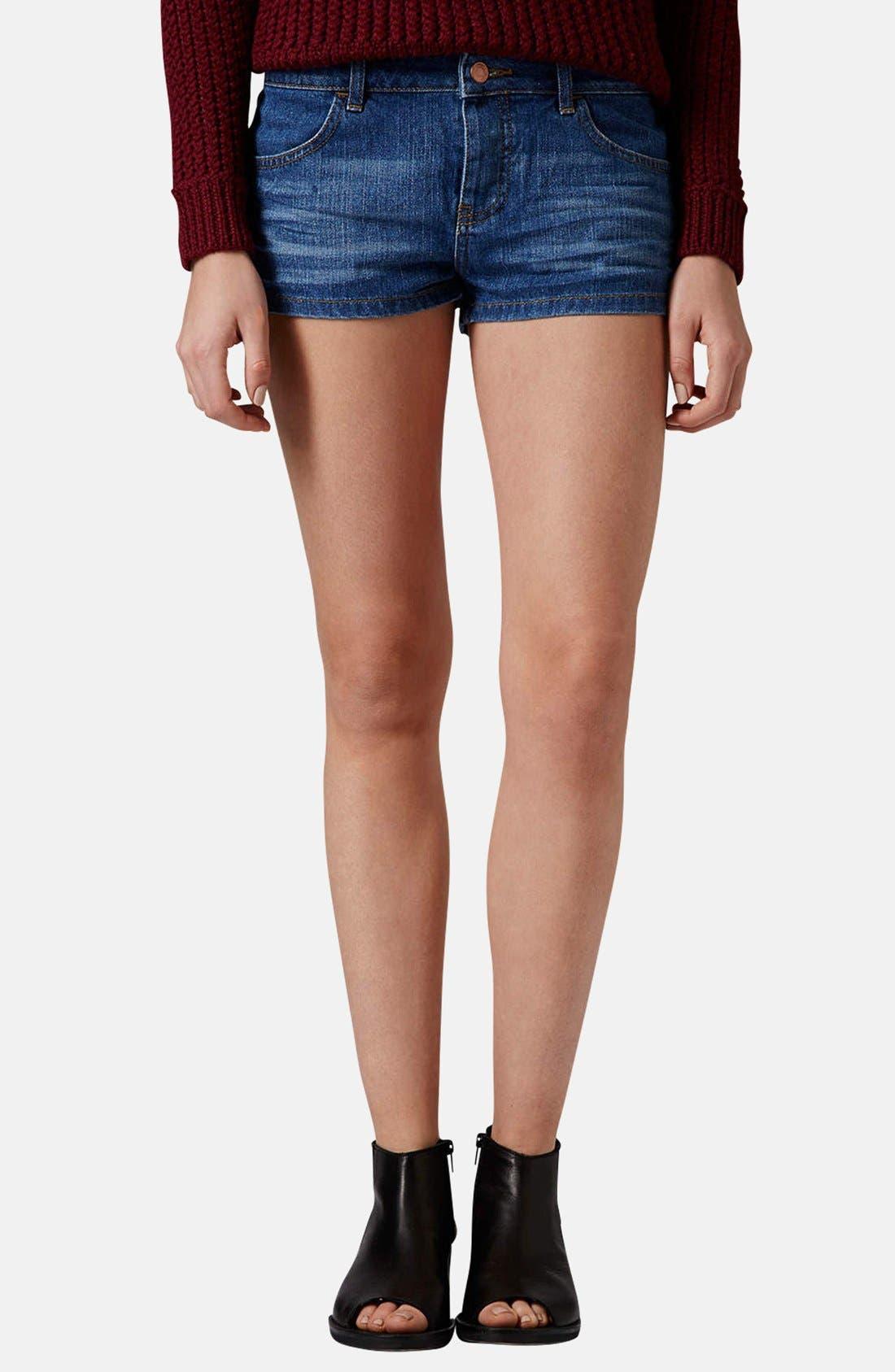 Main Image - Topshop Moto 'Daisy' Denim Shorts