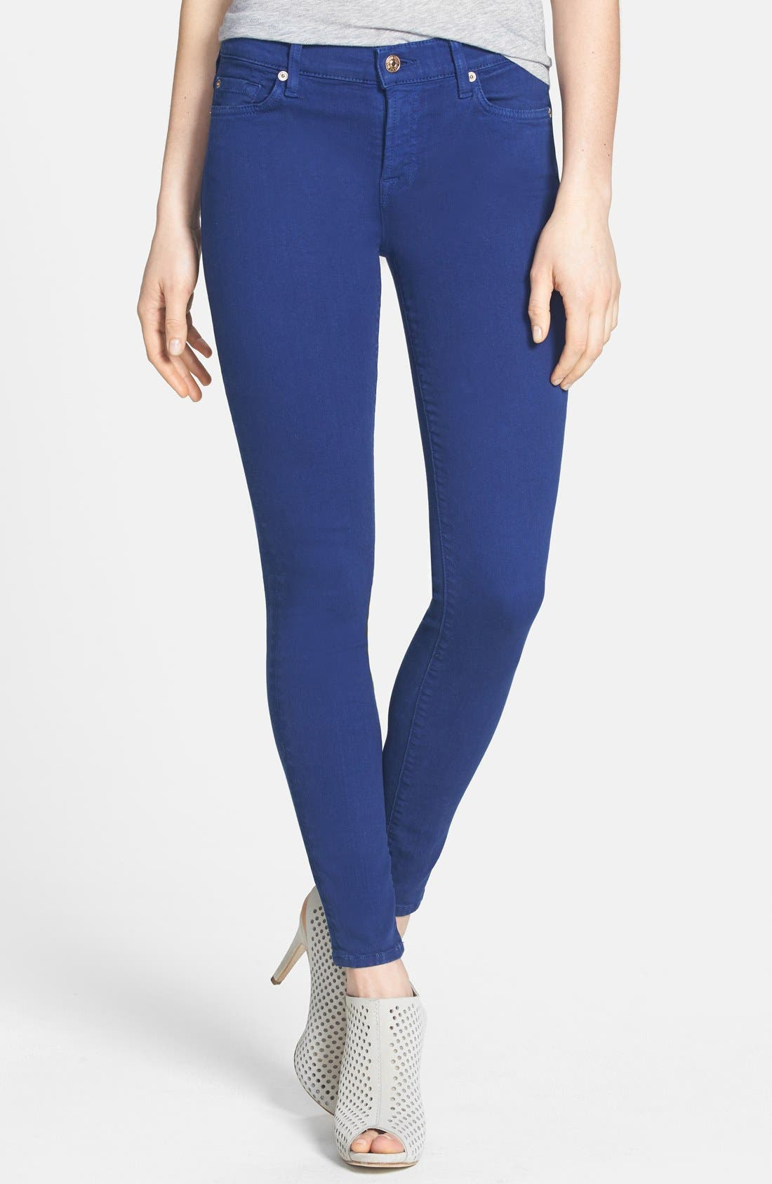 Main Image - 7 For All Mankind® 'The Ankle Skinny' Jeans (Sapphire)