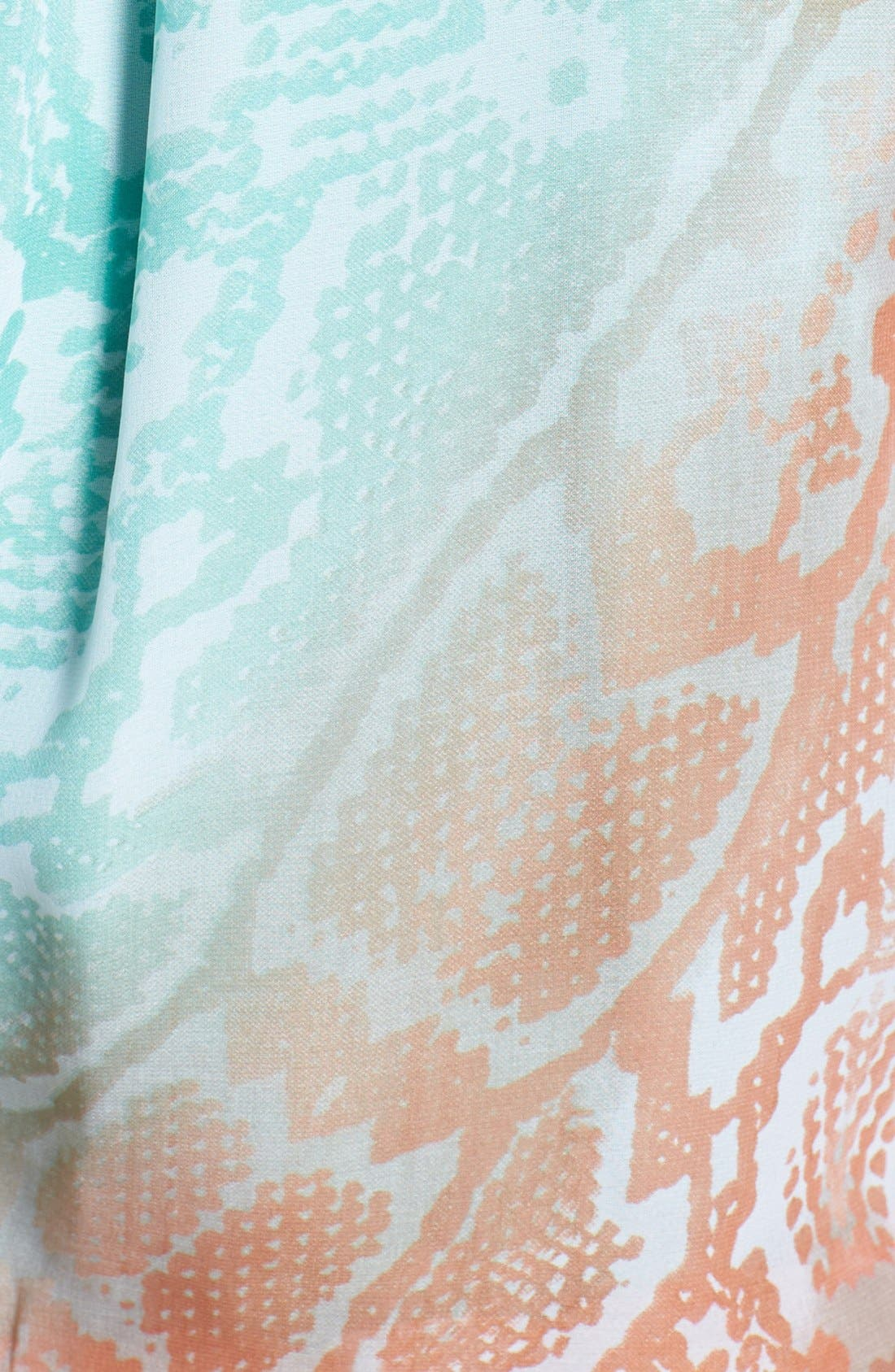 Alternate Image 3  - Vince Camuto Print Chiffon Blouson Maxi Dress