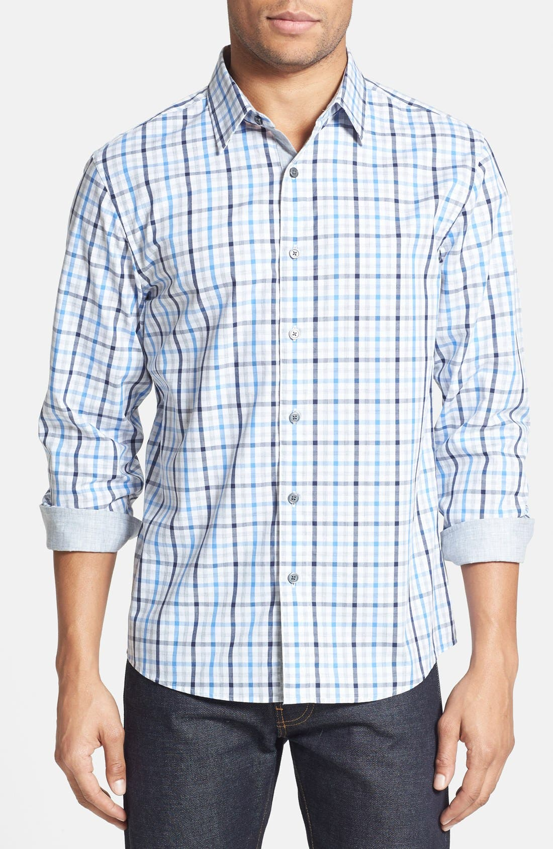 Alternate Image 1 Selected - Michael Kors 'Nixon' Trim Fit Sport Shirt