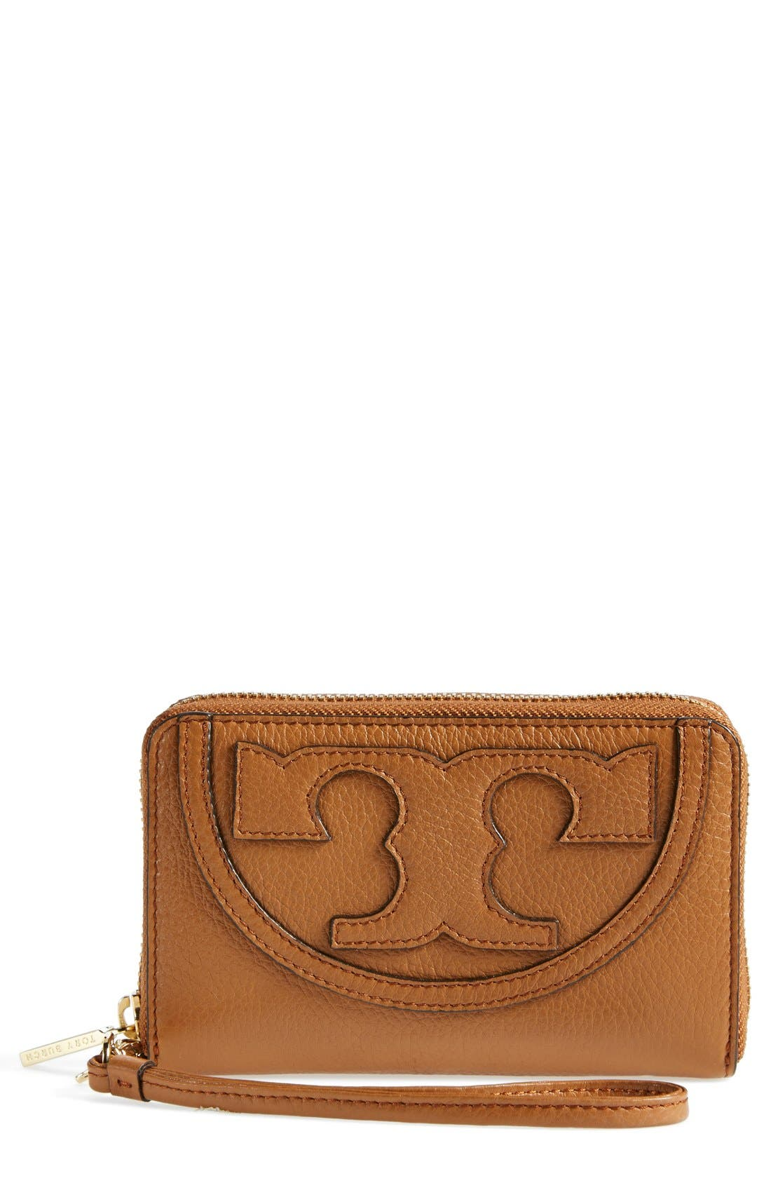 Main Image - Tory Burch 'All T' Leather Phone Wallet