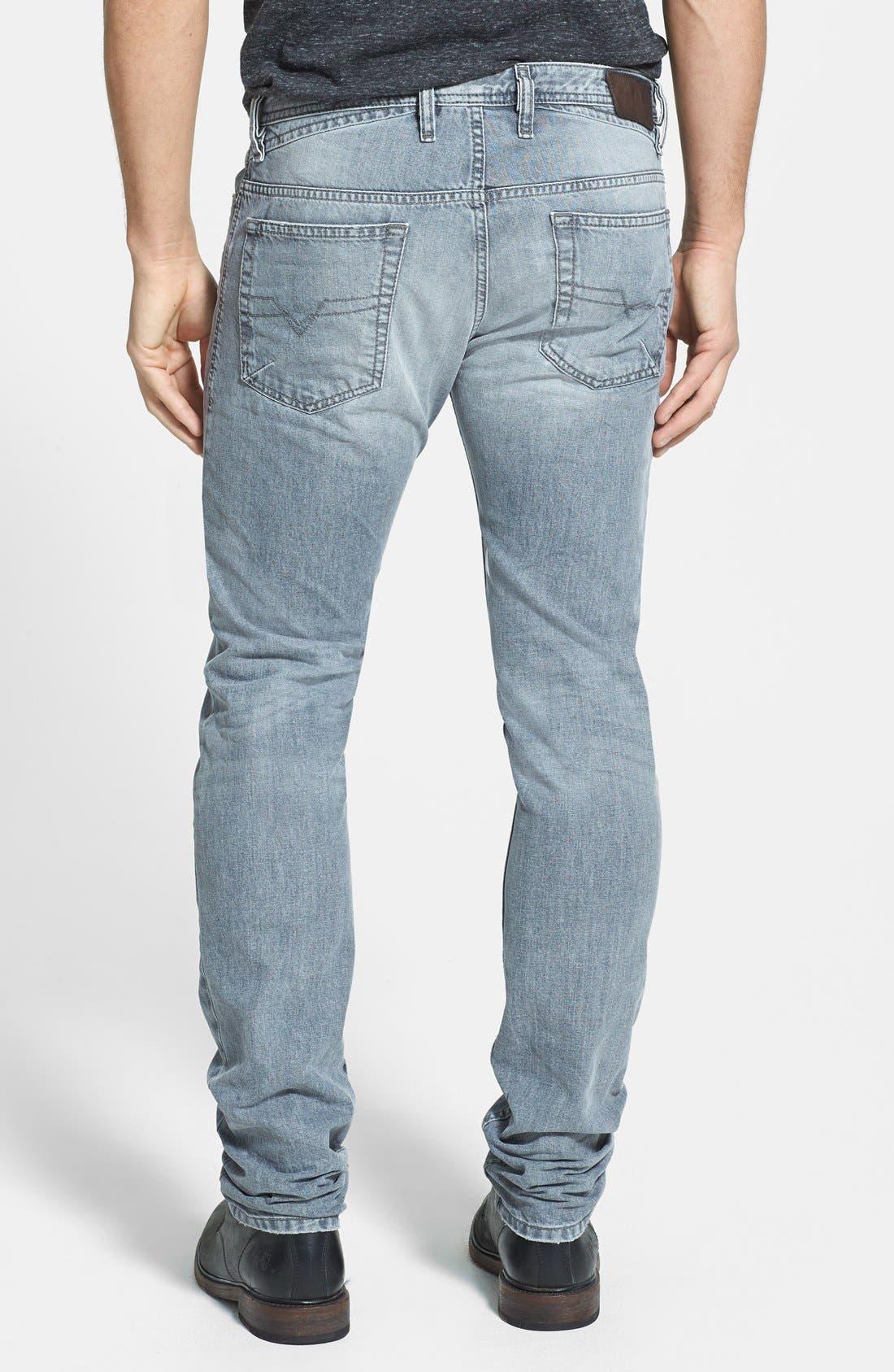 Alternate Image 2  - DIESEL® 'Shioner' Skinny Fit Jeans (Black)