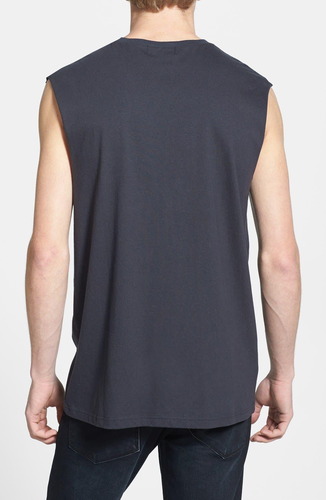 Alternate Image 2  - Topman Oversized Sleeveless Crewneck T-Shirt