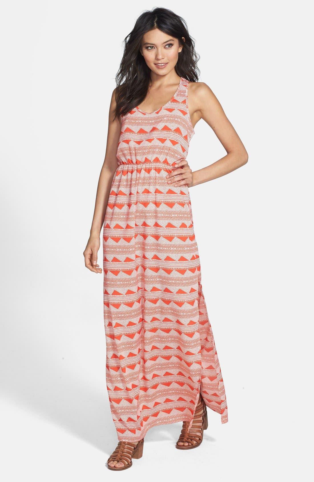 Alternate Image 1 Selected - Wayf Print Racerback Maxi Dress