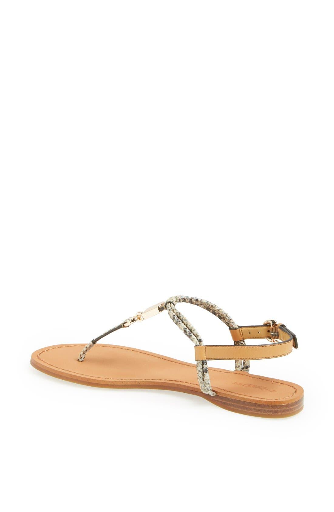 Alternate Image 2  - COACH 'Charleen' Leather Thong Sandal