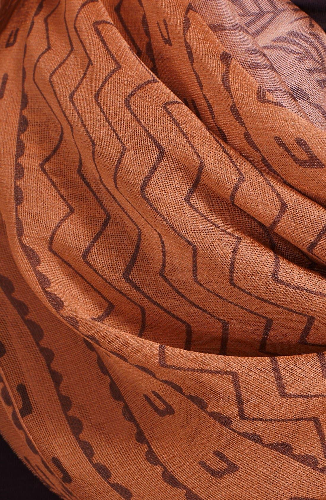 Alternate Image 2  - Donna Karan Collection Print Cotton & Silk Scarf