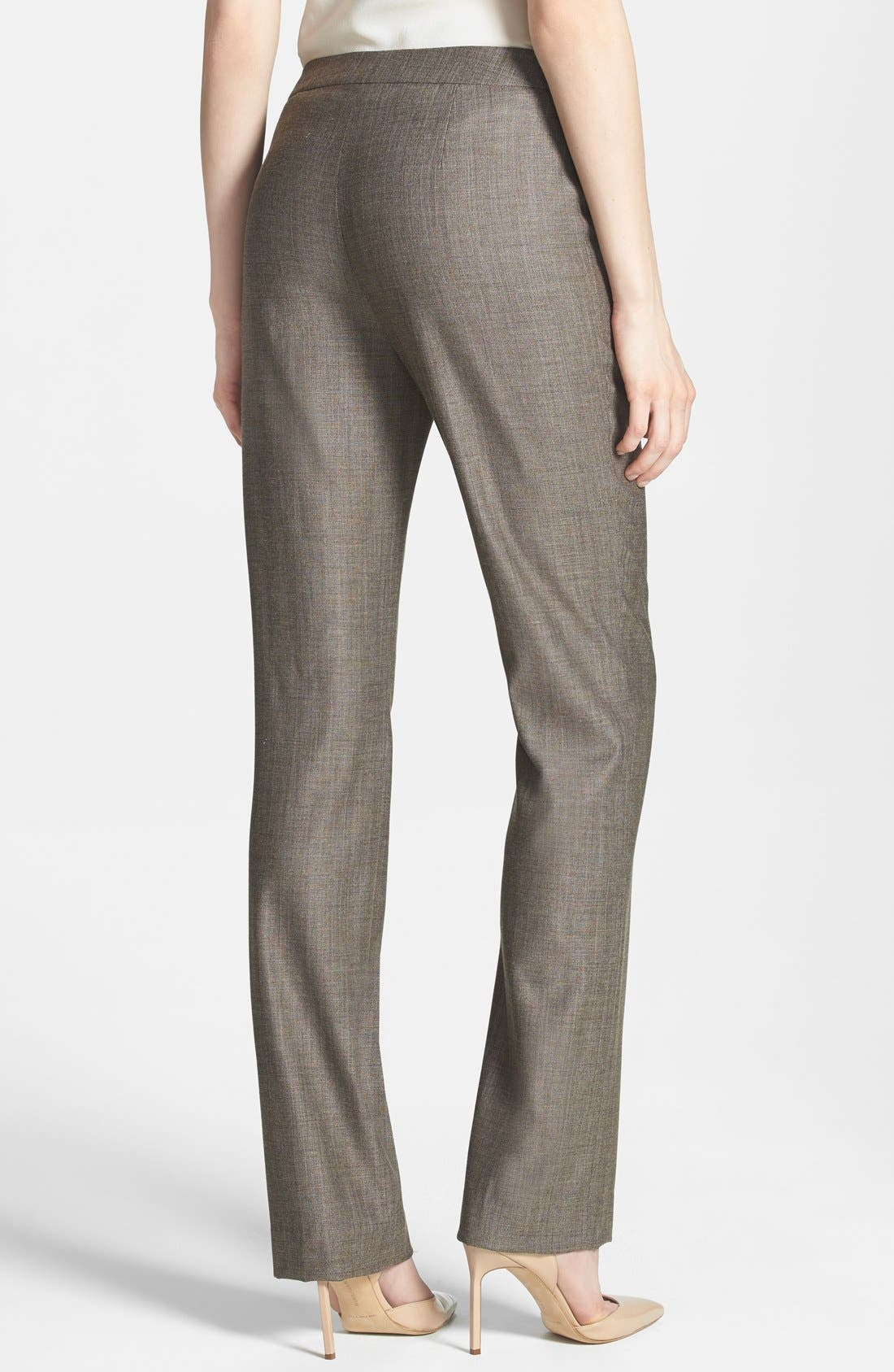 Alternate Image 2  - Lafayette 148 New York 'Barrow - Bridgeport' Stretch Wool Suiting Pants (Petite)