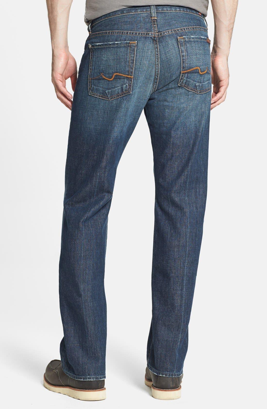 Alternate Image 2  - 7 For All Mankind® 'Standard' Classic Straight Leg Jeans (New York Dark)