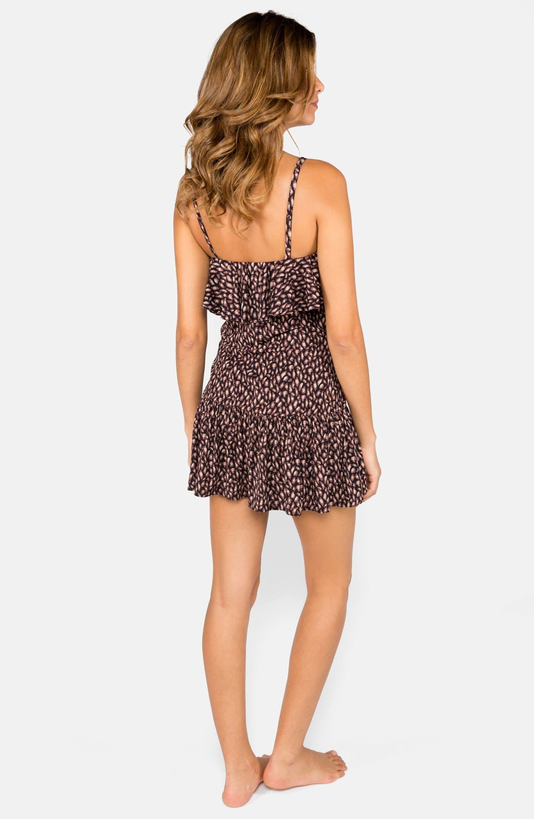 Alternate Image 2  - DKNY 'Mini Animal' Ruffle Cover-Up Dress