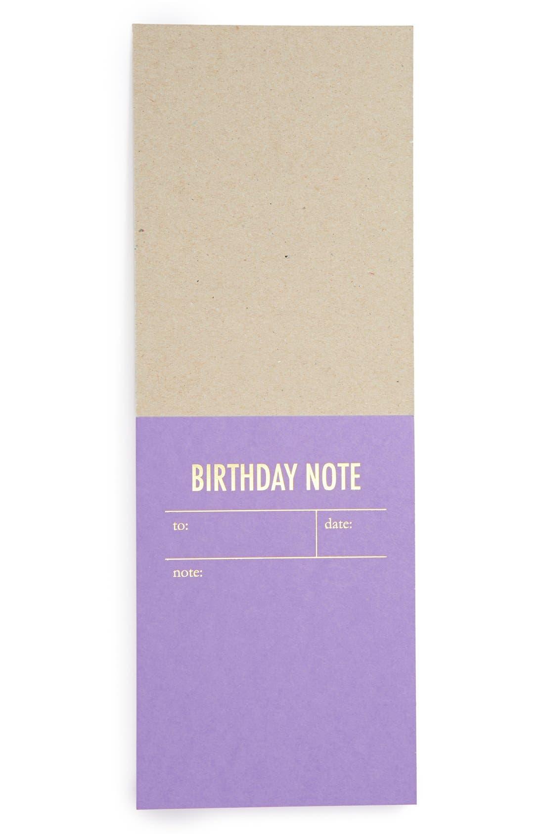 Alternate Image 2  - Tokketok 'Birthday Note' Letterpress Note Cards (Set of 30)