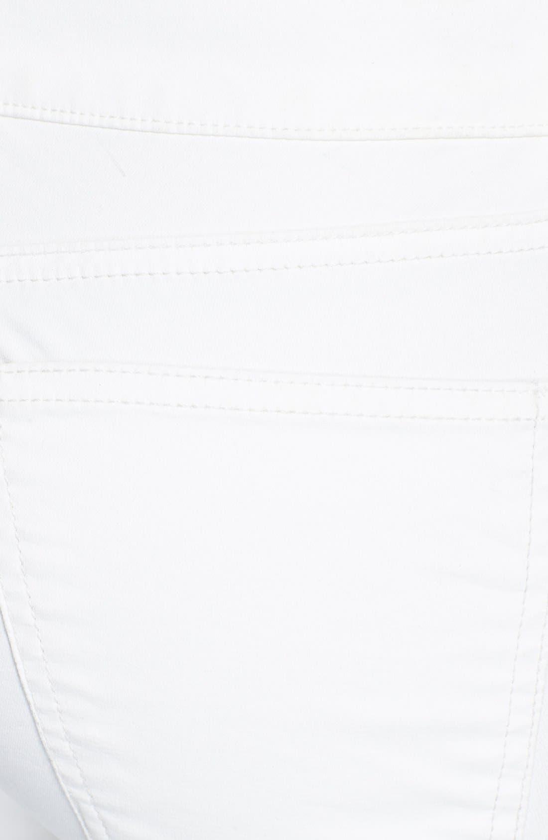 Alternate Image 3  - Current/Elliott 'The Soho Zip Stiletto' Skinny Jeans (Sugar Coated)
