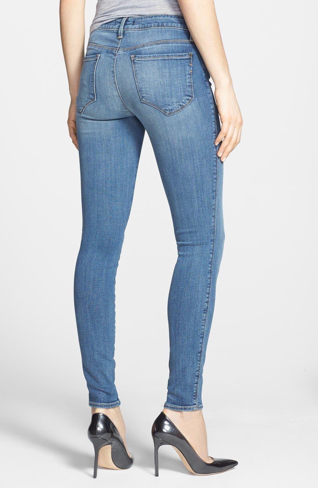Alternate Image 2  - Genetic 'Shya' Mid Rise Skinny Jeans (Polish)