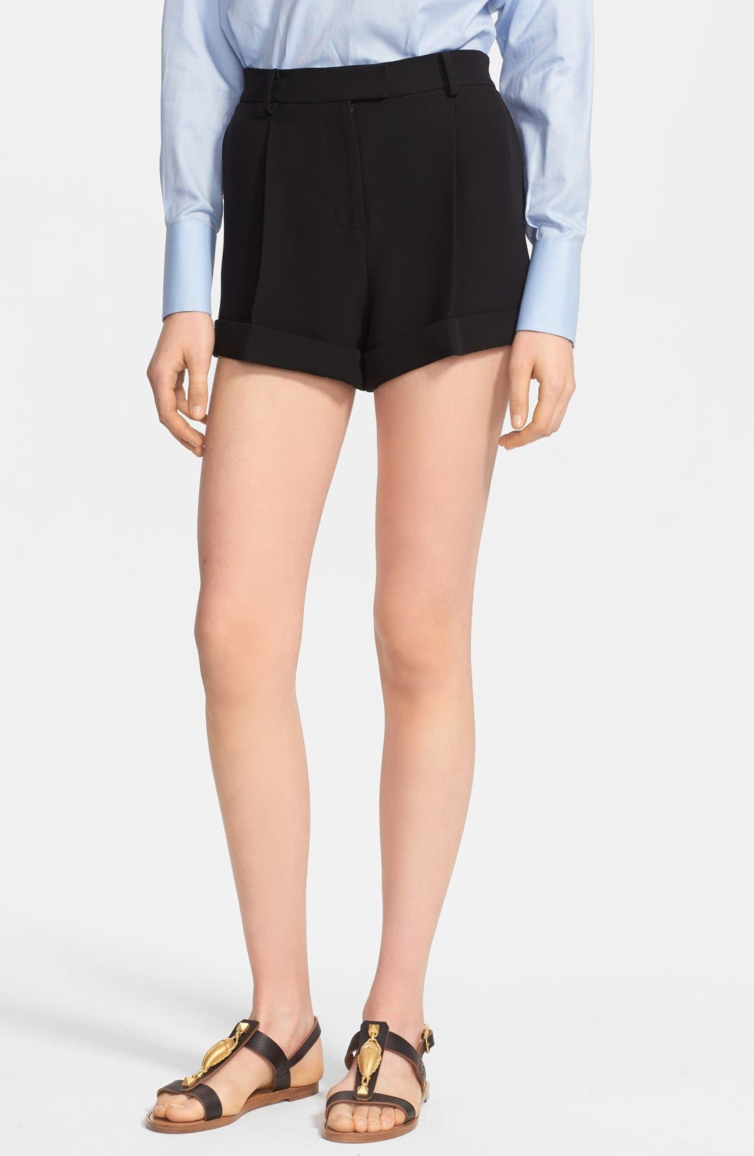 Alternate Image 1 Selected - Valentino Silk Cady Shorts