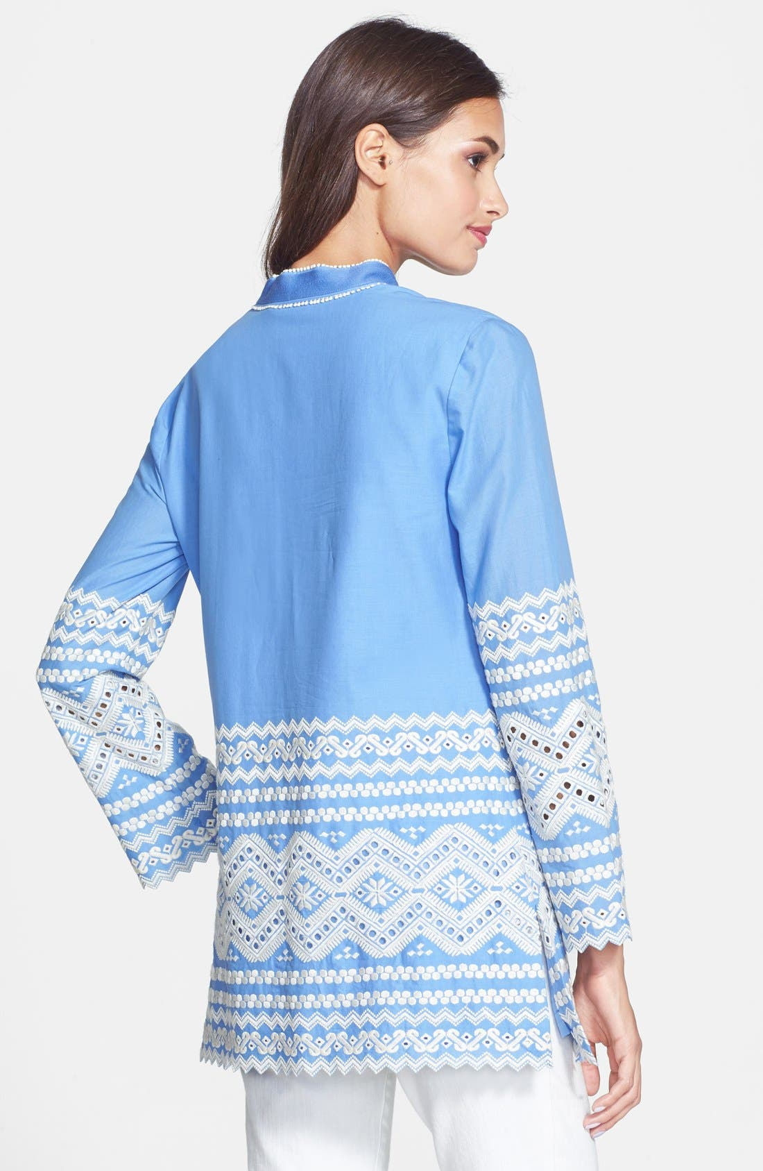 Alternate Image 2  - Tory Burch 'Zita' Embroidered Tunic Top
