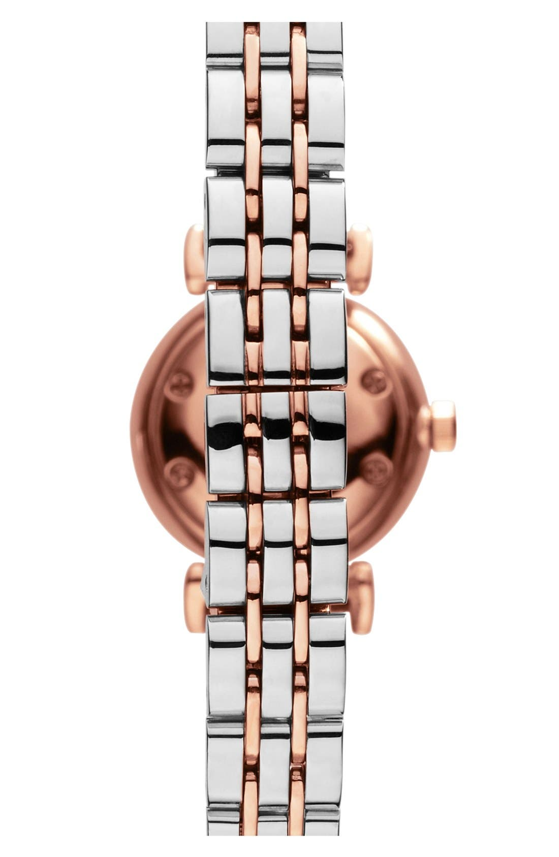 Alternate Image 2  - Emporio Armani Round Bracelet Watch, 22mm