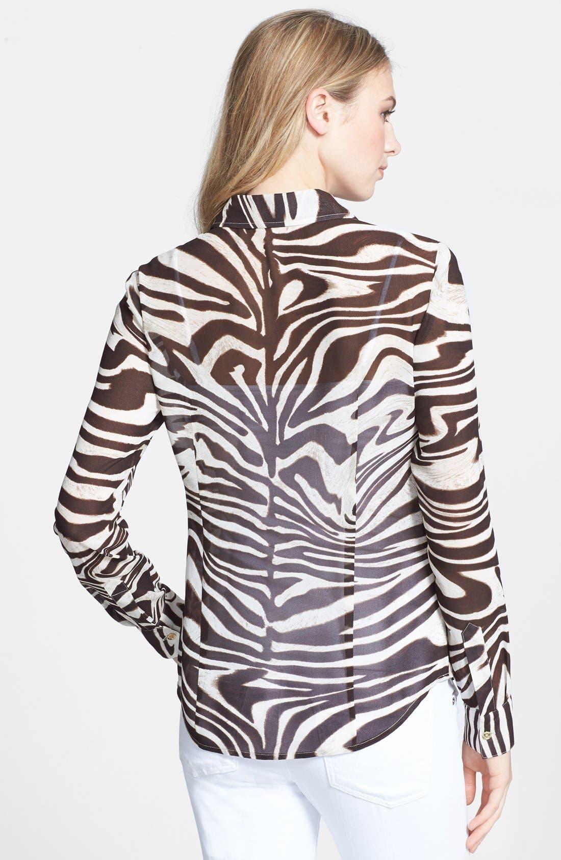 Alternate Image 2  - MICHAEL Michael Kors Print Long Sleeve Fitted Blouse