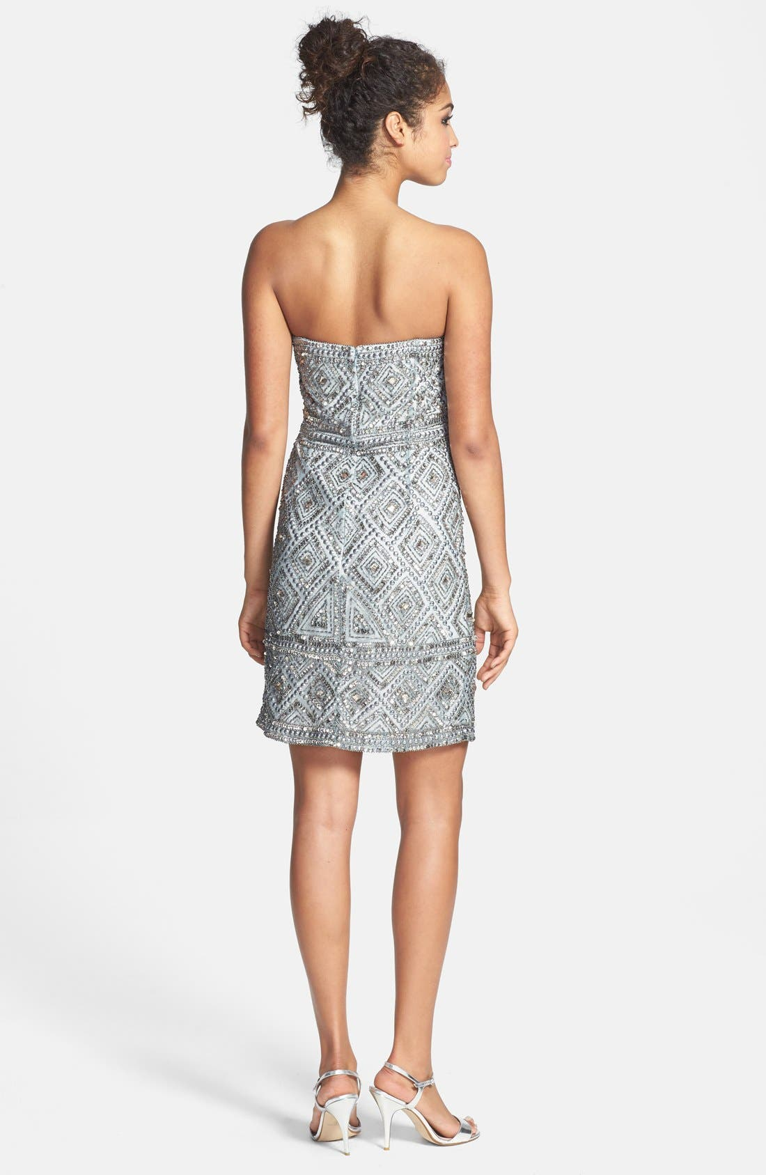 Alternate Image 2  - Adrianna Papell Beaded Mesh Dress