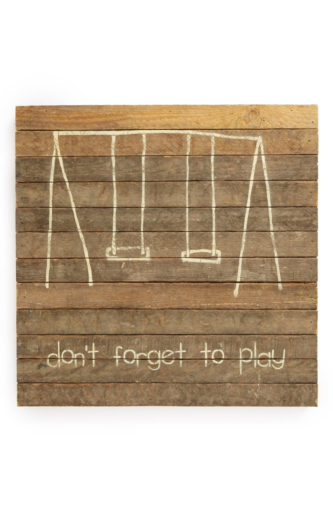 Alternate Image 1 Selected - Second Nature by Hand 'Don't Forget to Play' Wall Art