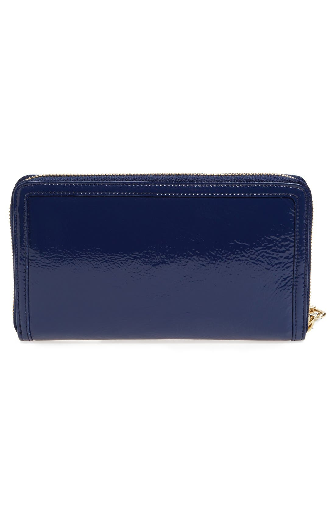 Alternate Image 3  - Halogen® Patent Leather Zip-Around Wallet