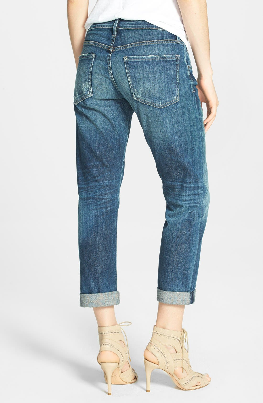 Alternate Image 2  - Citizens of Humanity 'Dylan' Distressed Straight Leg Jeans (Nomad)