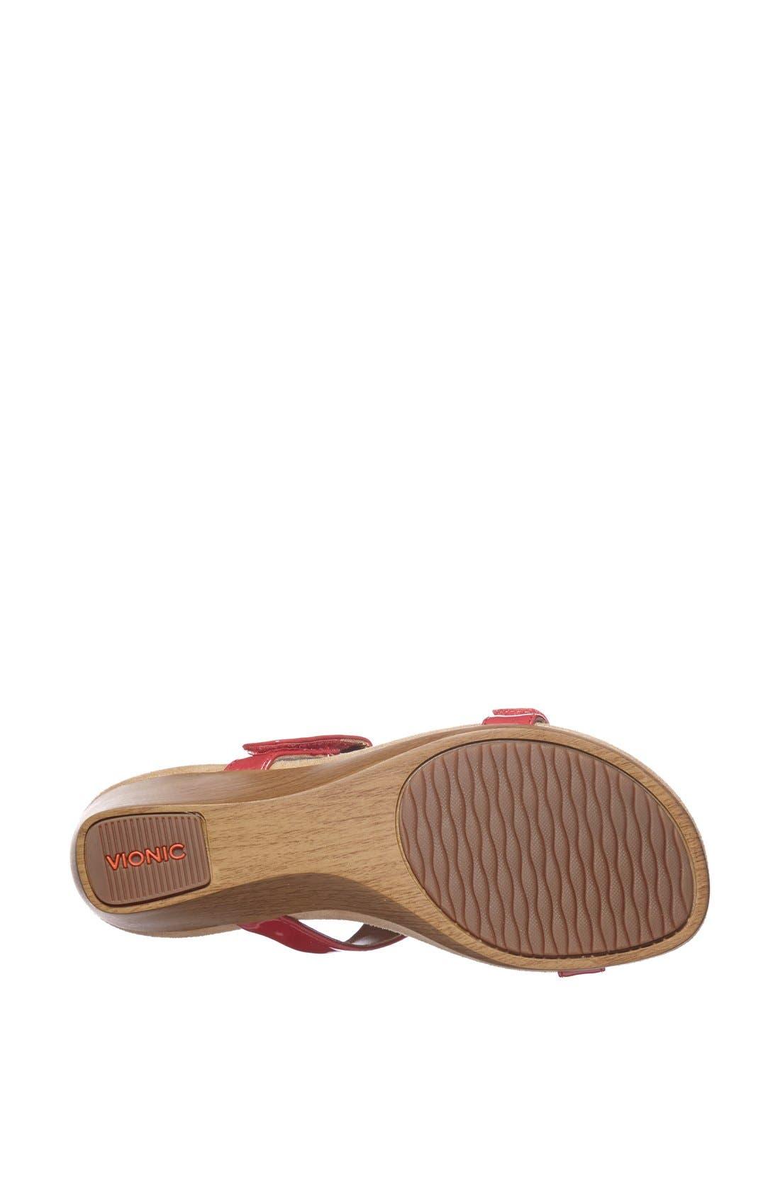 Alternate Image 4  - Vionic 'Maggie' Geometric Cutout Wedge Sandal