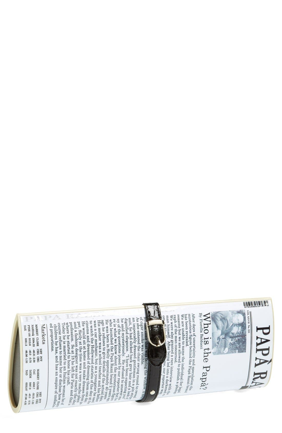 Main Image - Papà Razzi 'Nadine' Newspaper Clutch