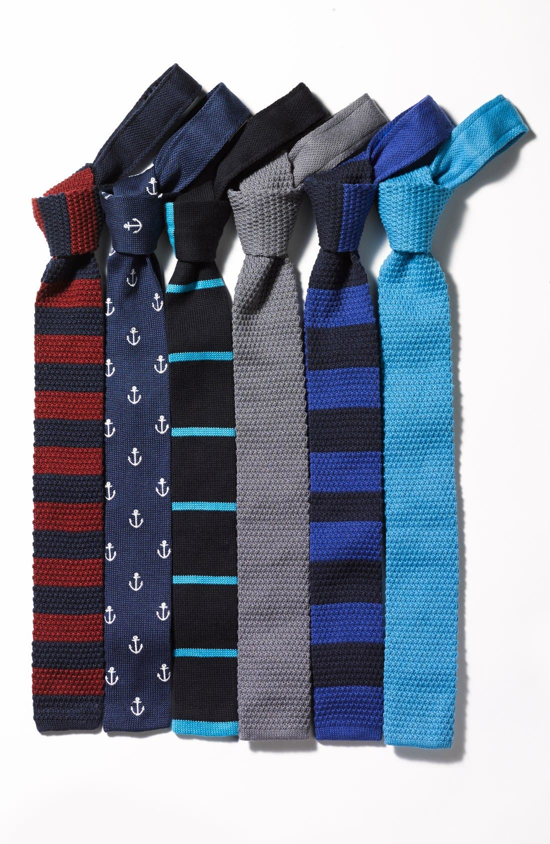 Alternate Image 3  - Ivy Prepster 'Anchors' Knit Cotton Tie