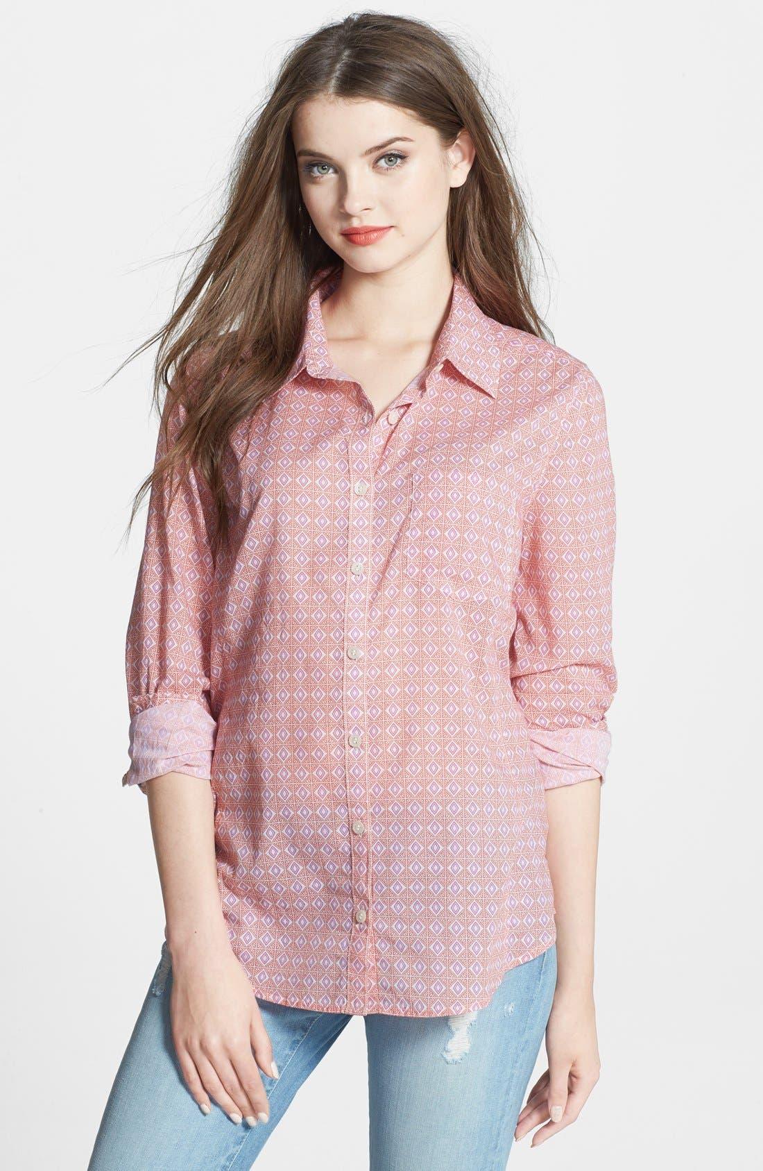 Alternate Image 1 Selected - Caslon® Cotton Blend Blouse