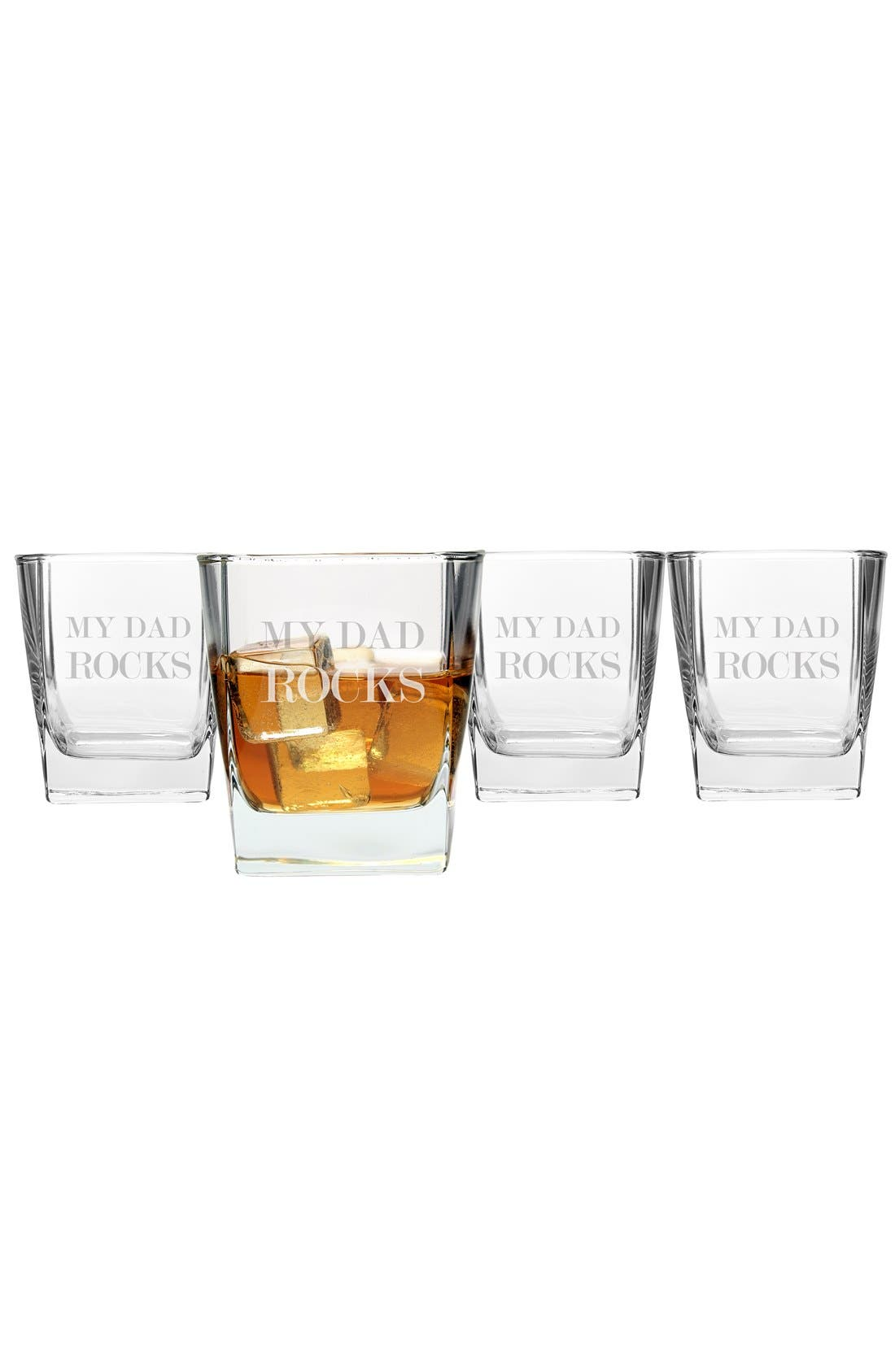 'My Dad Rocks' Glasses (Set of 4)