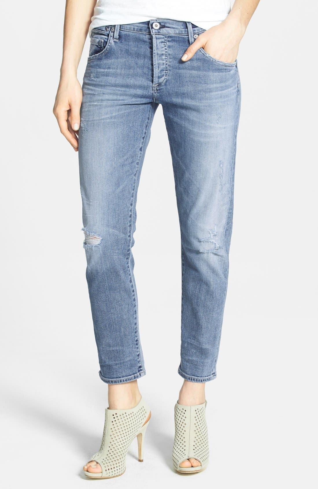 Main Image - Citizens of Humanity 'Premium Vintage - Emerson' Slim Boyfriend Crop Jeans (Crosby)